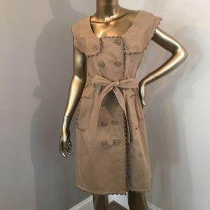 Moschino Cheap And Chic Khaki DB Dress